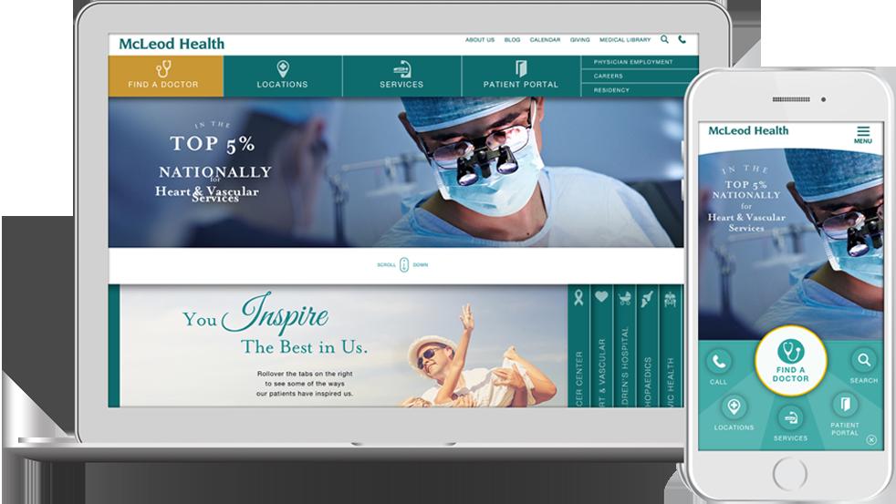 McLeod Health — Website Design | LHWH Advertising & PR